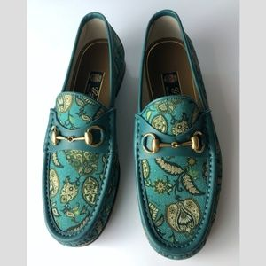 Gucci Horsebit Paisley Verdant Loafers G 08